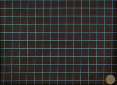 Maharam Bright Grid Scuba Modern Window Pane Plaid Blue Carbon Upholstery Fabric…