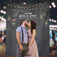 Get ready to say  I do and have the perfect photo background with this i do bbq instagram photo engagment party decor item! This engagment party decoration is the pefect place to take all your facebook, snapchat and instagram photos! It is the perfect way to get your guests tagging your big party and taking fun pics of your event on their social media! This social media savvy photography backdrop is the perfect decor item for your wedding!
