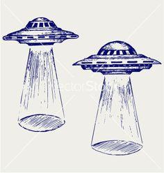 Pix For > Flying Saucer Sketch