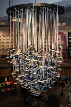 hanging art of Converse