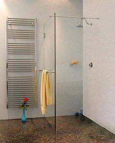 Bodengleiche Walk-In-Dusche ohne Tür