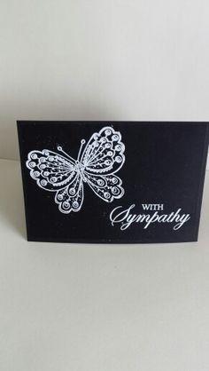 Sympathy card for a friend.