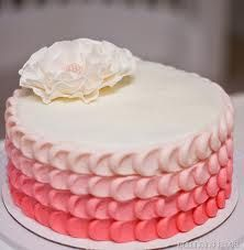 pink buttercream frosted cake - Google Search