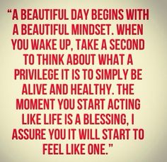 A beautiful day begins with a beautiful mindset ❤️