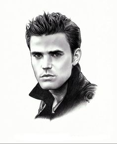 Wow incredible drawing of paul wesley aka stefan - Vampire diaries dessin ...