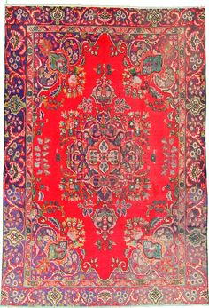 6 2 x 9 1 Red Tabriz Persian Rugs
