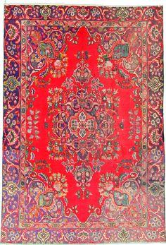 6 2 x 9 1 Red Tabriz Persian Rugs