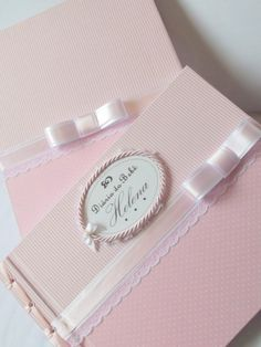 Diário do bebê - Rosa e Branco Simples | Ane Melo | Elo7