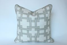 CitySquare Linen Pillow Cover with Latte Piping – The Pillow Studio