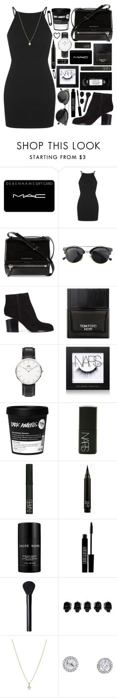 """""""Outfit 194"""" by holass ❤ liked on Polyvore featuring MAC Cosmetics, Topshop, Givenchy, Chicnova Fashion, Alexander Wang, Tom Ford, Daniel Wellington, NARS Cosmetics, Lalique and Lord & Berry"""