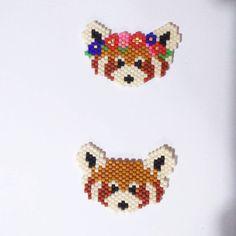 Panda Roux fille ou garçon 4x2 cm 7 euros pièce en broche ou en collier plusieurs exemplaires