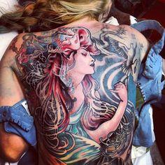 Mucha Backpiece... Huge progress today...:). #natanink #tattoos #natanalexander #muchatattoo #ink #inked #tattoosongirls #inkedgirls #tattooartist #witchcityink #worldclasstattoos