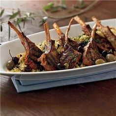 Grilled Lamb Chops with Harissa