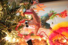 Hawaiian themed christmas ornaments!