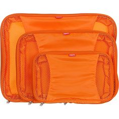 baggallini Compression Packing Cubes set of 3 Orange - baggallini Lightweight packable expandable bags