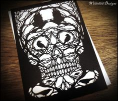Commercial & Personal Use  Skull Trees Dark by WildchildDesigns77