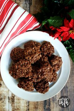 Gluten-Free Vegan Chocolate Peanut Butter No-Bake Oatmeal Cookies | The Healthy Family and Home