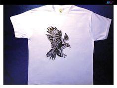 Imperial Eagle T-shirt, hand-painted https://www.facebook.com/AllStuffStudioArt