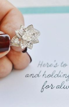 this dazzling diamond engagement ring is so unique