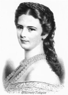 1867 Sisi wearing a pearl necklace.