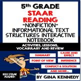 5th Grade STAAR Reading Interactive Notebook