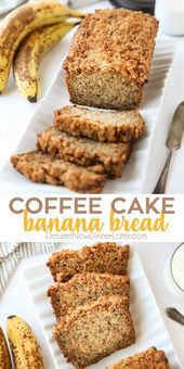 Coffee Cake Banana Bread combines classic banana bread with the amazing cinnamon streusel of coffee cake. This delicious quick bread is perfect for breakfast, brunch, or dessert. Coffee Cake Banana Bread - Dessert Now, Dinner Later! Super Moist Banana Bread, Sour Cream Banana Bread, Cinnamon Banana Bread, Easy Banana Bread, Banana Bread Recipes, Easy Cake Recipes, Fruit Recipes, Quick Bread, Icing For Banana Bread