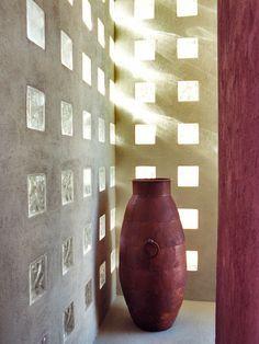 modern glass block exterior wall - Google Search