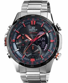 CASIO EDIFICE WATCHES - CASIO Edifice Twin Sensors Chrono Stainless Steel Bracelet