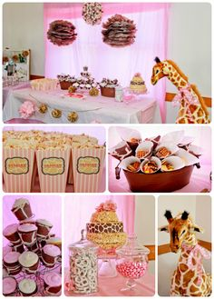 Giraffe Birthday Party- giraffe print cones and cupcake wrappers. Looove giraffes!