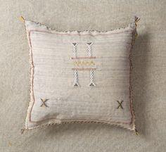 "Taupe Grey3 Sabra Cactus Silk Moroccan Berber Throw Pillow Marrakesh 19"" x 19"" #Moroccan"