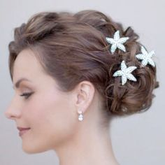 Updo with starfish bling