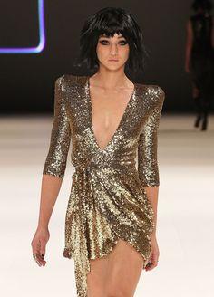 Zhivago Sovereign of Stars Gold Dress