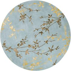 This gorgeous rug is hand-tufted of wool and viscose with hand-carved details and a plush pile. Shades of blue, golden brown and gold accentuate this floral area rug. Floral Area Rugs, Blue Area Rugs, Chinoiserie, Transitional Area Rugs, Art Graphique, Carpet Runner, Rug Runner, Modern Rugs, Contemporary Rugs