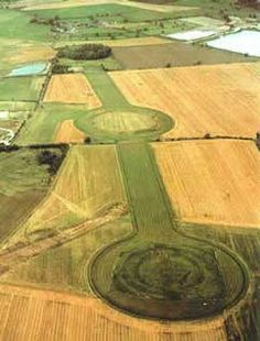 Thornborough, England.sacred Neolithic landscape which was used for over a thousand years.