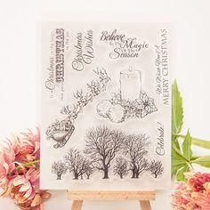 Aliexpress.com: Acheter 1 feuille bricolage joyeux noël bougie Transparent Rubber Seal Stamp papier artisanat Scrapbooking décoration de artisanat terre fiable fournisseurs sur  Wedding specialist