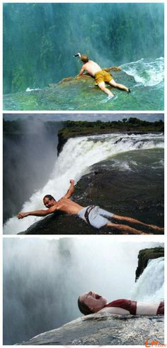 Victoria Falls in Africa, another place NOT on my bucket list. Fear of heights!