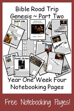 {Free Printable Notebook Pages} Bible Road Trip ~ Year One Week Four