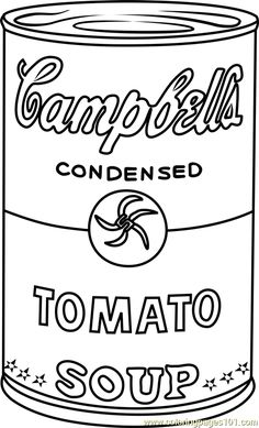 Andy Warhol Coloring Pages - campbells soup & free Andy Warhol ideas. Andy Warhol Pop Art, Andy Warhol Soup Cans, Andy Warhol Marilyn, Andy Warhol Flowers, Pop Art Poster, Poster Print, The Velvet Underground, Artists For Kids, Art For Kids