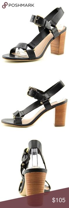 Trina Turk Womens Serena Black New without box. Never worn. Trina Turk Color/Material: Black Leather Adjustable Ankle Strap With Buckle Closure Lightly Padded Insole Man-Made Sole 3.5in Heel Imported Trina Turk Shoes Heels