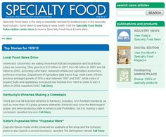 Our Specialty Food News section has been made even easier for readers to access! Check out the new format here: