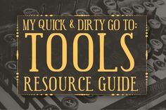 "Every Teacher and Ed Tech Blogger should have a ""Go To Tools"" Resource Guide on their Blog! Love this! (Note: This Example is a Social Media Expert Resource Guide but you get the idea)..."