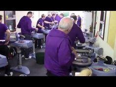 The Wimbledon stringing team 2013 Wimbledon