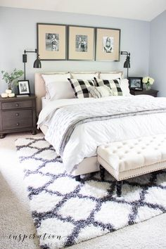 A 90's bedroom makes a jump into modern decor with a simple but elegant makeover. Come see this master bedroom makeover before + after reveal!