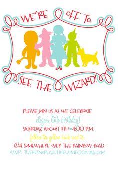 Wizard of Oz Birthday Party Invitation