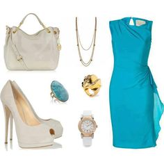 Wear this on a first date....it'll alsmost guarantee a second date....out fit is just beautiful, and all boys like their ladies in blue! #big #girl #fashion #outfit #set