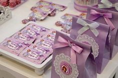 Sofia The First Birthday Party, Invitation, Thank you Card, Cupcake Toppers, Water Bottle Wraps, Centerpieces, Decoration, Birthday Banner, Labels, Favor Tags, Candy Wraps and so much more; Sofia The First, Disney Princess, Sofia, Pink, Purple, DIY