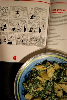 Pasta with Spinach and Ricotta - Popeye's 85th Birthday