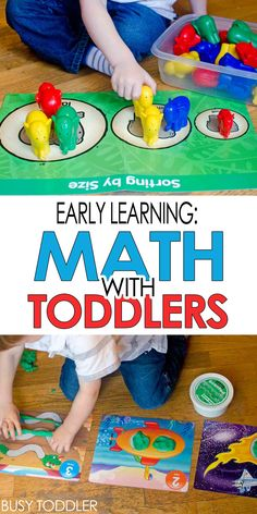 Early Learning: Math with Toddlers - ideas for teaching sorting, number sense and patterning #ad
