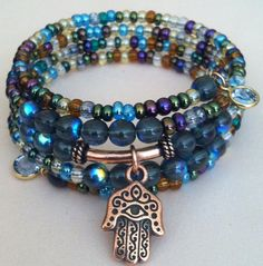 Boho Chic Hamsa Hand of God Multi Colored 5 by TheCopperFirefly
