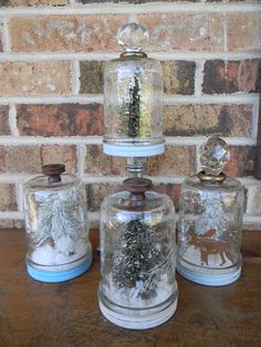 I picked up a case of wide mouth pint jars at the grocery store recently and wanted to make some pretty winter snow globes. I love the way these turned out and…